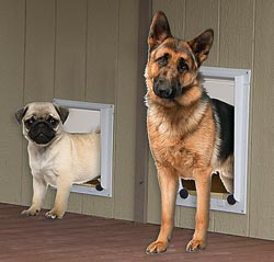 small and large magnetic animal door kennel option