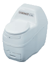 Sun-Mar self contained composting toilet white compact model