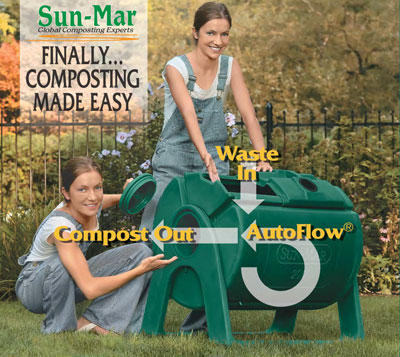 Sun-Mar Garden Composters - composting made easy