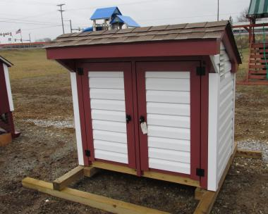 3x5 Vinyl Trash Can Shed